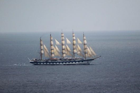 Tall ship at Curacao